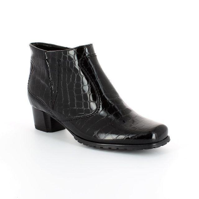 Ara Ankle Boots - Black croc - 61879/66 GENFCROC