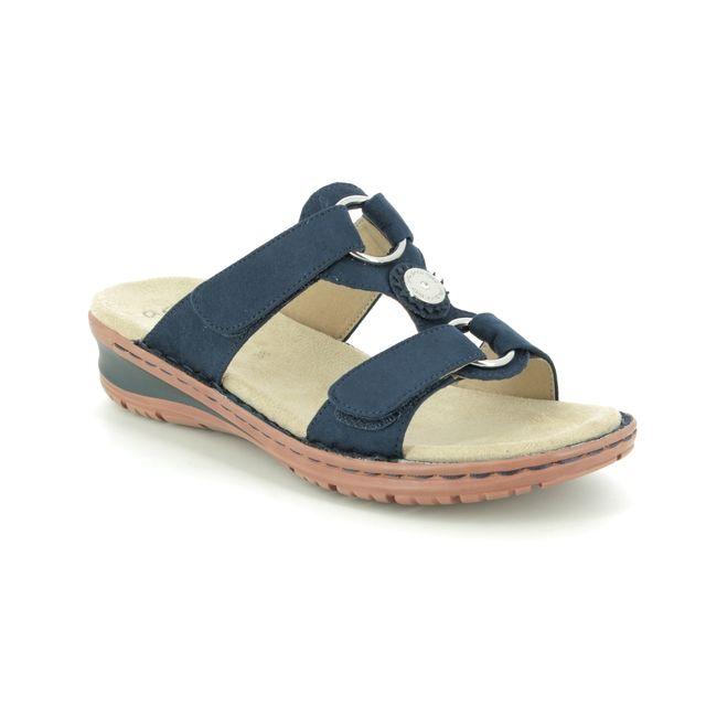 Ara Hawaii Koredis 27232-82 Navy Slide Sandals