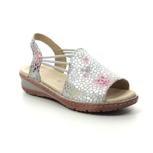 Ara Hawaii Korsika 27241-70 Grey Floral Comfortable Sandals