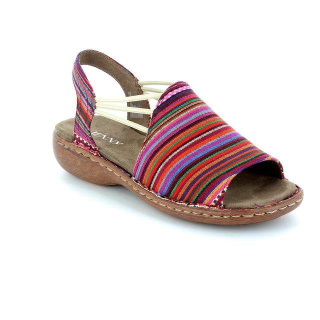 Ara Korcan 2257252-07 Fuchsia multi sandals