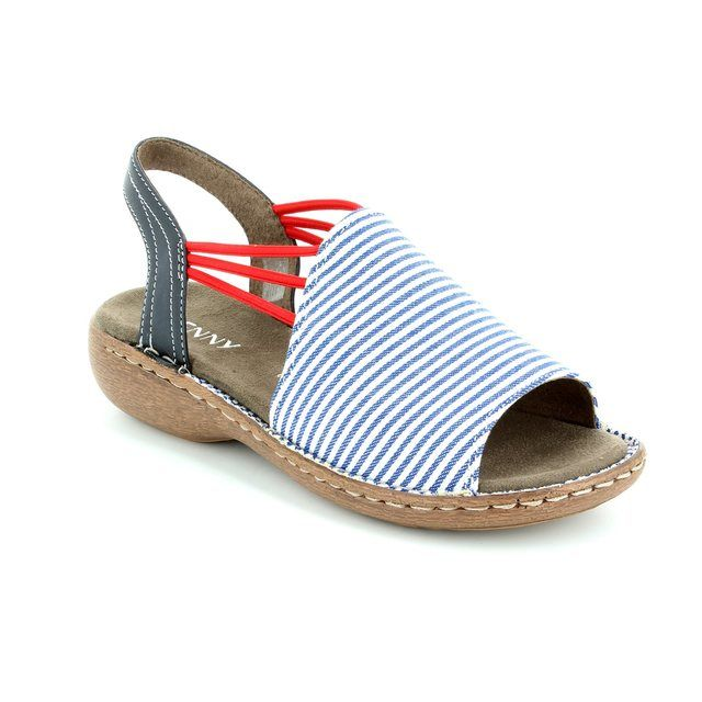 Ara Korcan 2257252-09 White-blue combi sandals