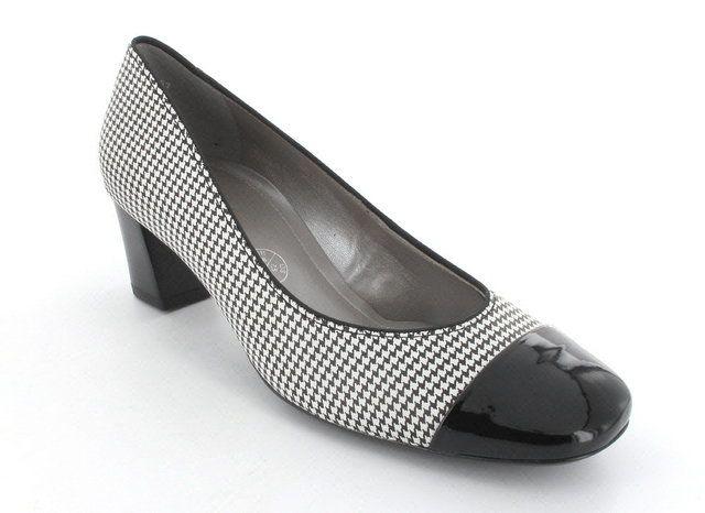 Ara Loncap 36608-09 Black white heeled shoes