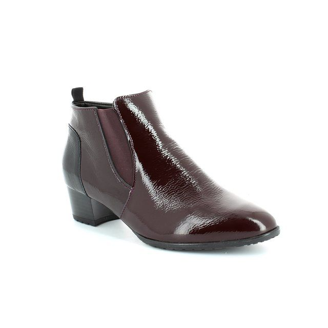 Ara Padumar 42108-78 Wine patent ankle boots