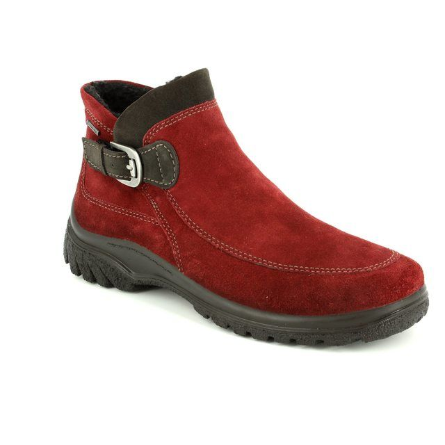 Ara Passa Gore-tex 1249341-66 Red suede ankle boots