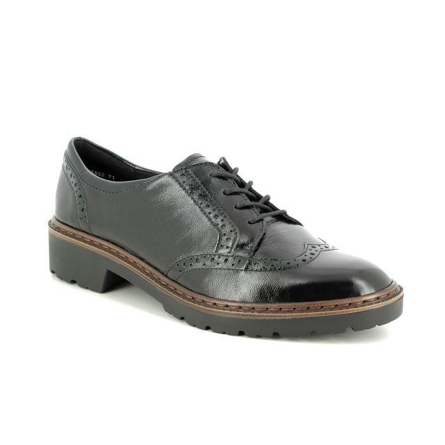Ara Brogues - Black Patent Leather - 16502/71 PORTLAND LACE L