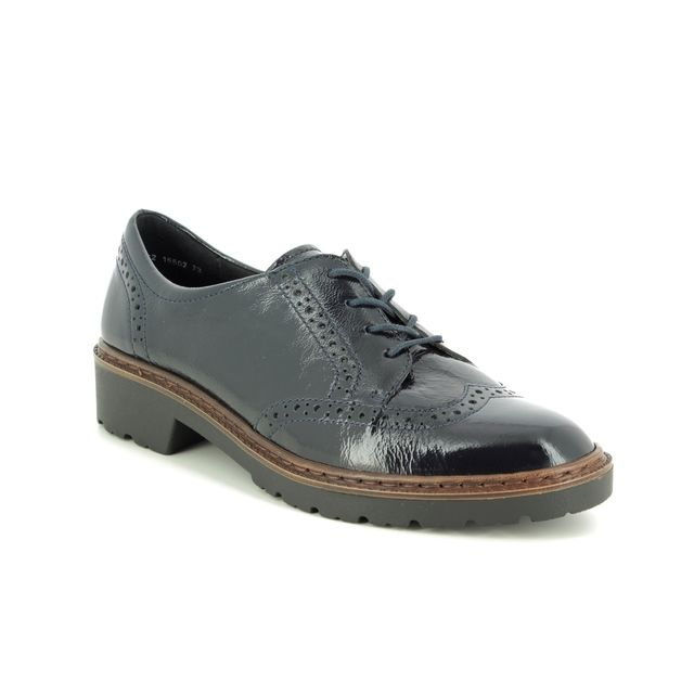 Ara Brogues - Navy patent leather - 16502/72 PORTLAND LACE L