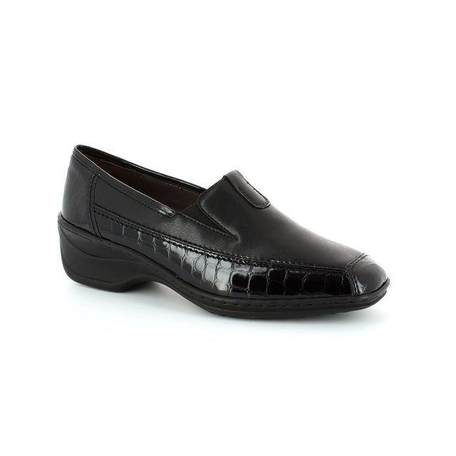Ara Regginova 12 61114-11 Black croc comfort shoes