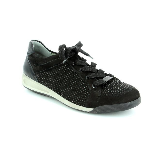 Ara Lacing Shoes - Black nubuck - 44458/01 ROME
