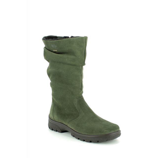 Ara Knee-high Boots - Green Suede - 49336/60 SAAS FEE BT GORE-TEX