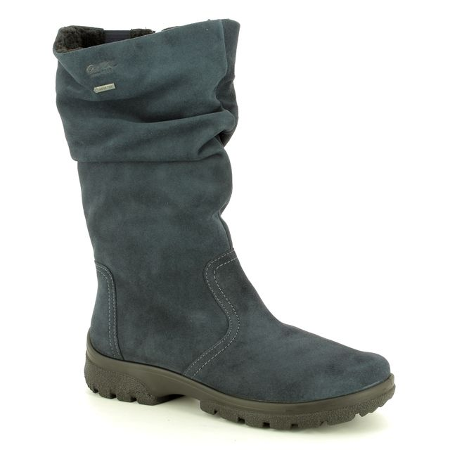 Ara Knee-high Boots - Navy suede - 49336/65 SAAS FEE BT GORE-TEX