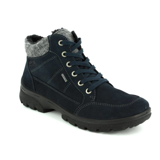 Ara Saas Fee Gore 1249344-66 Navy suede walking boots