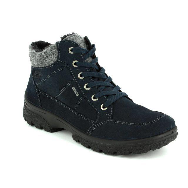 Ara Walking Boots - Navy suede - 49344/66 SAAS FEE GORE
