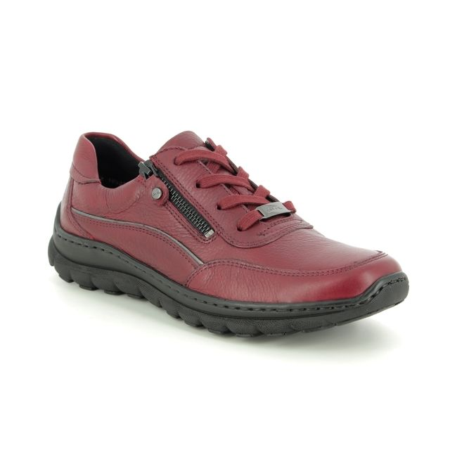 Ara Comfort Slip On Shoes - Red leather - 18522/77 TAMPA