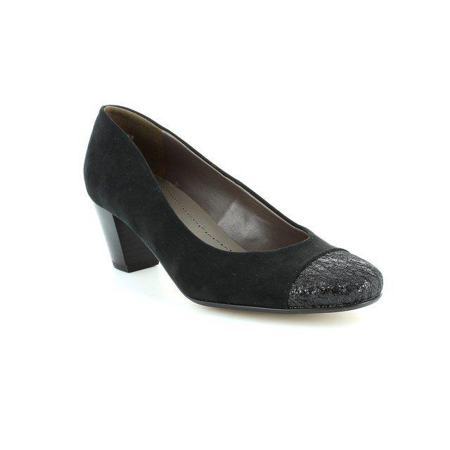 Ara Venezi 62872-01 Black suede heeled shoes