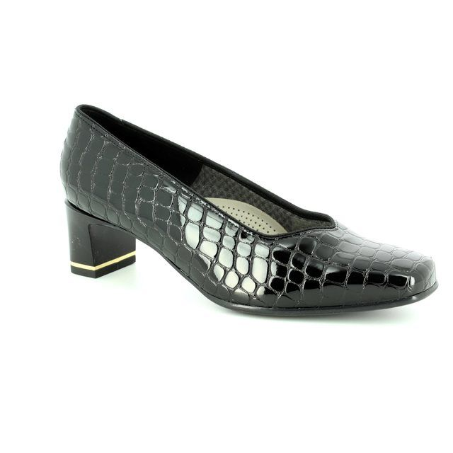 Ara Heeled Shoes - Black croc - 41768/07 VERONA