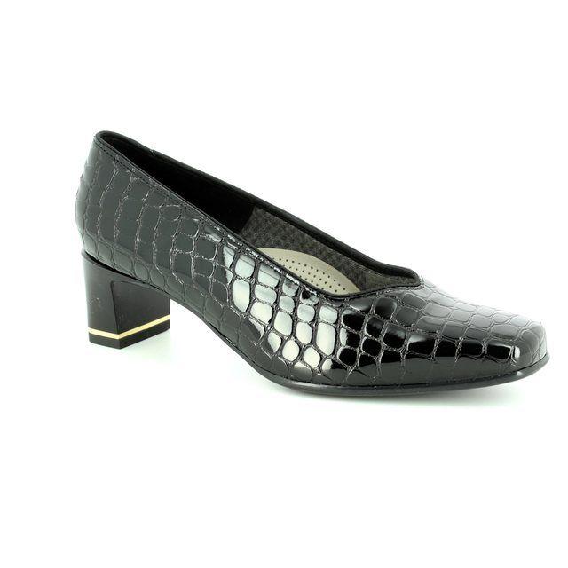 Ara Heeled Shoes - Black croc - 41768/07 VERONA