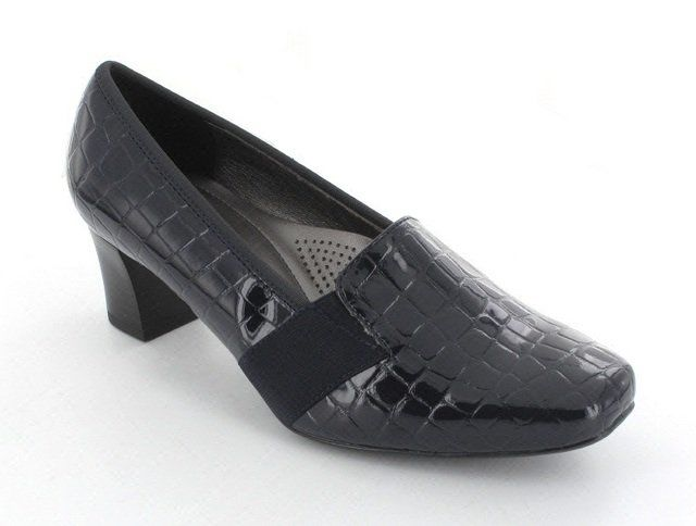 Ara Heeled Shoes - Navy croc - 41781/02 VERONITAB