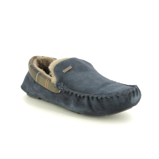 Barbour Slippers - Navy Suede - MSL0001/NY52 MONTY