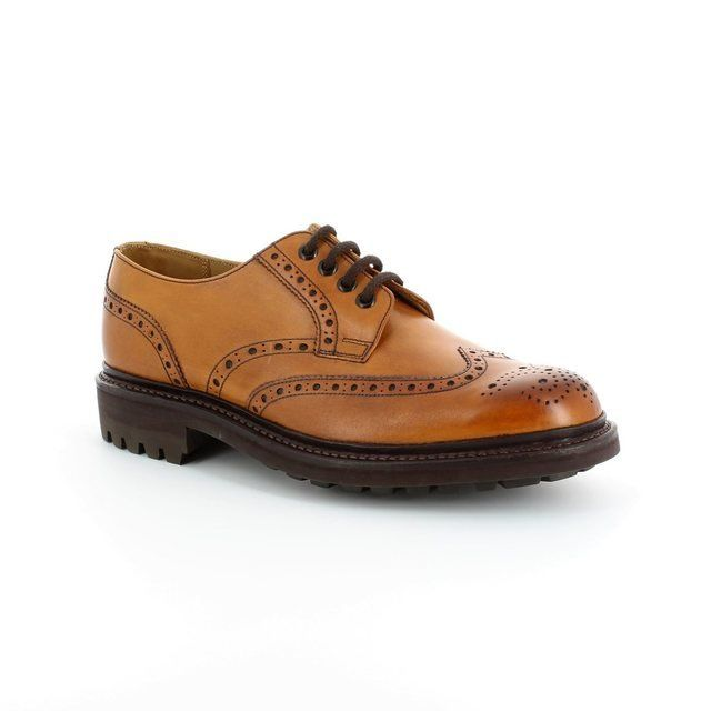 Barker Com.brogue 2078-01 F Fit Brown formal shoes