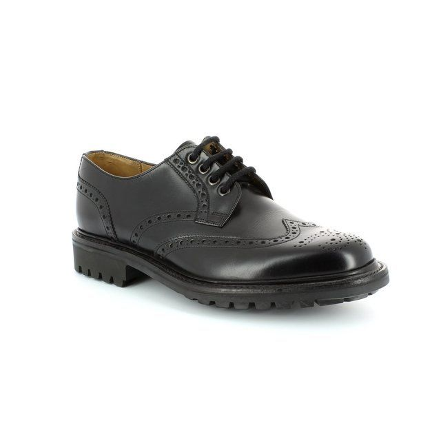 Barker Com.brogue 2078-03F F Fit Black formal shoes