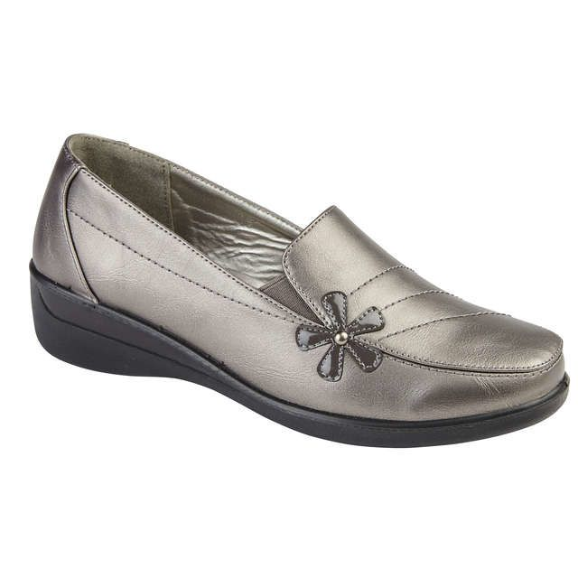 Begg Exclusive Comfort Shoes - Pewter - 8140/01 CORFU