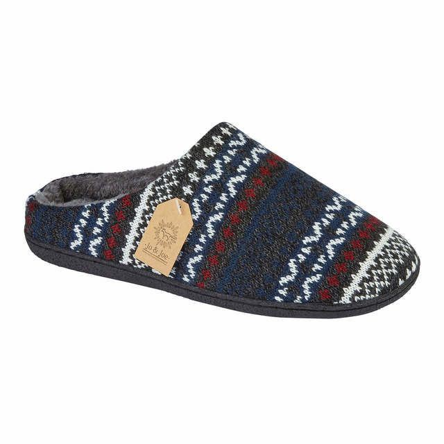 Begg Shoes Mules - Navy multi - 8628/70 FAIRISLE