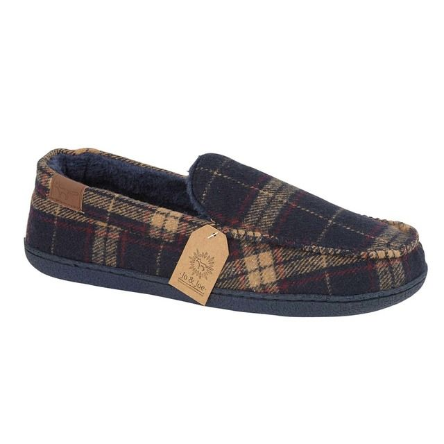 Begg Shoes Slippers - Navy - 0597/70 DALESWAY
