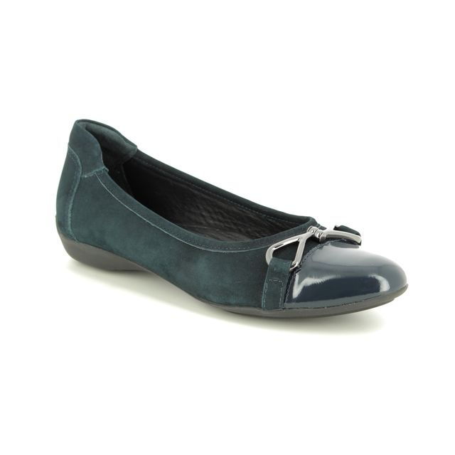 Begg Shoes Pumps - Navy Nubuck Patent - 4963/70 LAZIO