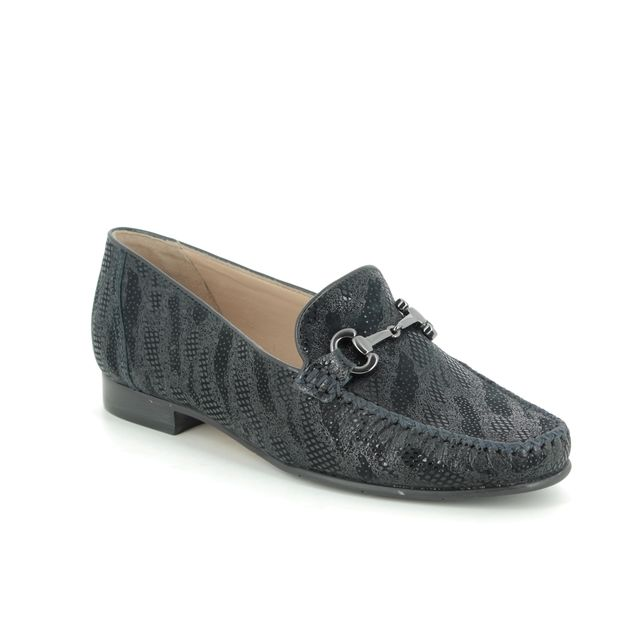 Begg Shoes Loafers - Navy suede - 51514/70 TOSCANA
