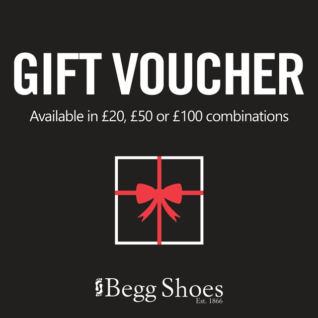 Begg Shoes Gift Vouchers GIFT VOUCHER