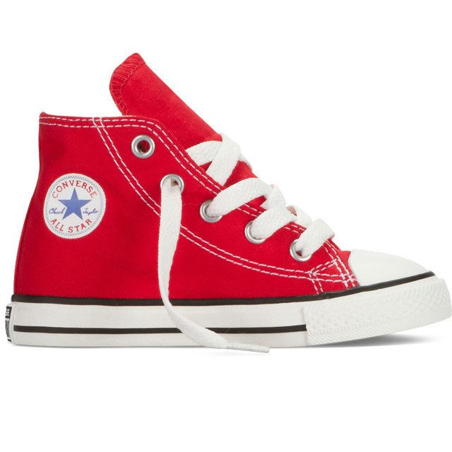 Converse Boys Trainers & Canvas - Red - 7J232C/600 JNR ALLSTAR HI