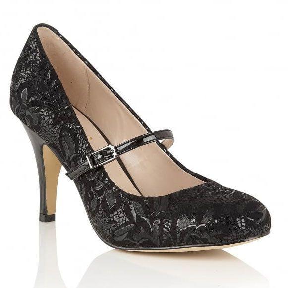 Lotus Fuzina Black high-heeled shoes
