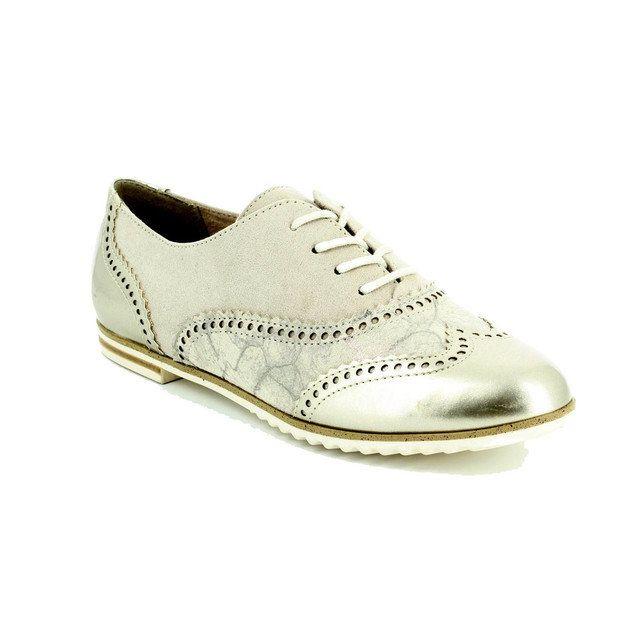 Marco Tozzi Dota 23205-435 Beige multi lacing shoes
