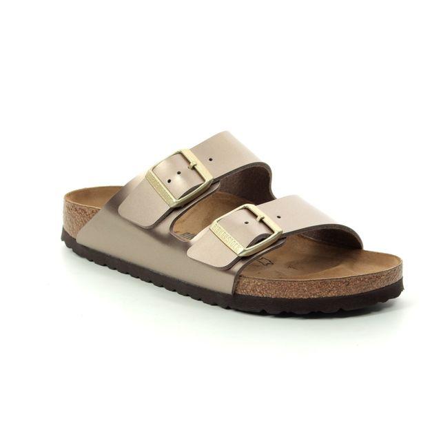 Birkenstock Arizona Electric Metallic Taupe Narrow Fit 1012972 Slide Sandals