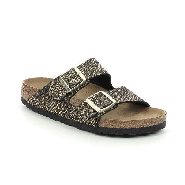 Birkenstock Arizona Ladies 101937232 Black gold Slide Sandals