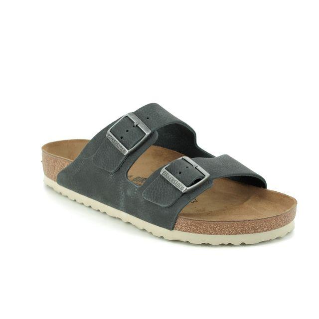Birkenstock Sandals - Grey leather - 1015500 ARIZONA MENS