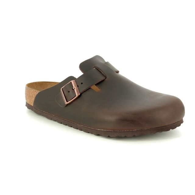 Birkenstock Mules - Brown leather - 0860131 BOSTON HABANA OILED LEATHER