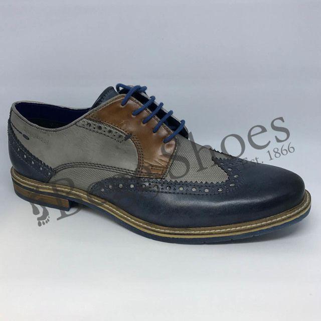 Bugatti Fashion Shoes - Navy/tan - 31225904/4115 ADAMO