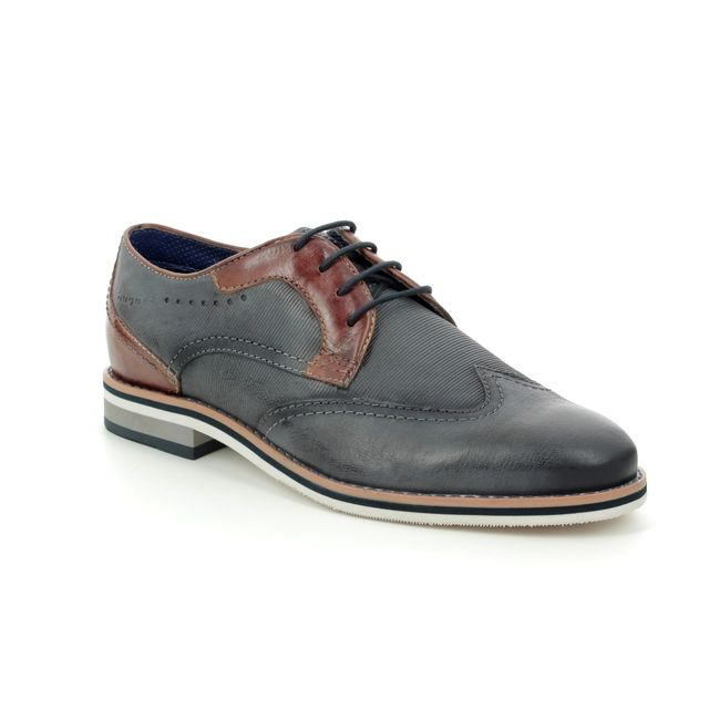 Bugatti Brogues - Navy-Tan - 31169401/4163 GOLIA TWIN FIT
