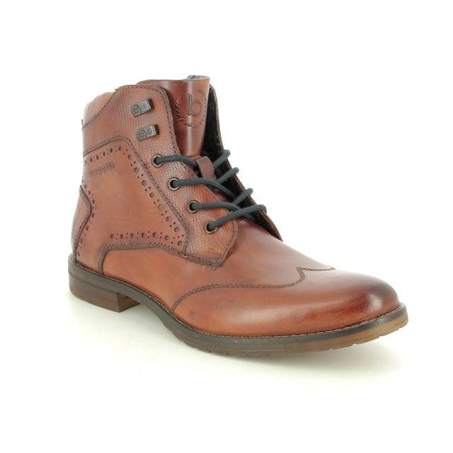 Bugatti Brogue Boots - Tan Leather - 31181031/6300 LUSSORIO BOOT