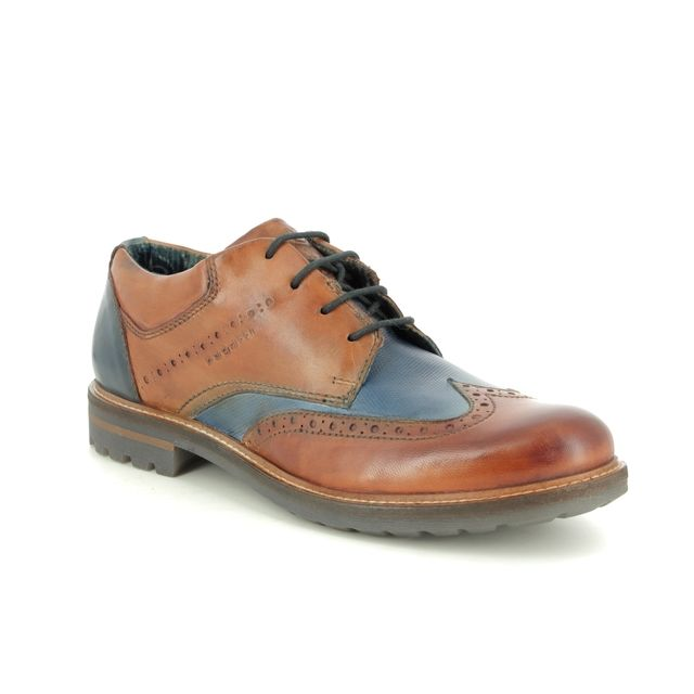 Bugatti Brogues - TAN NAVY  - 31181501/6341 SILVESTRO BROGUE