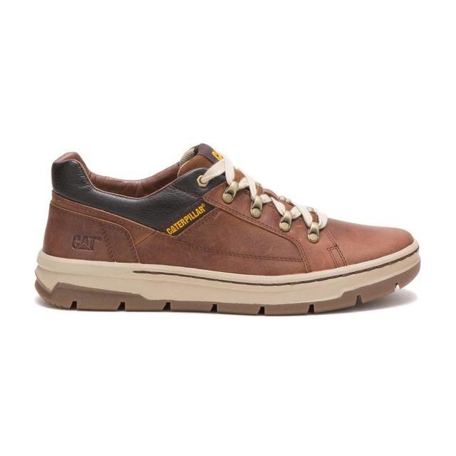 CAT Fashion Shoes - Brown leather - P723730 HANDSON
