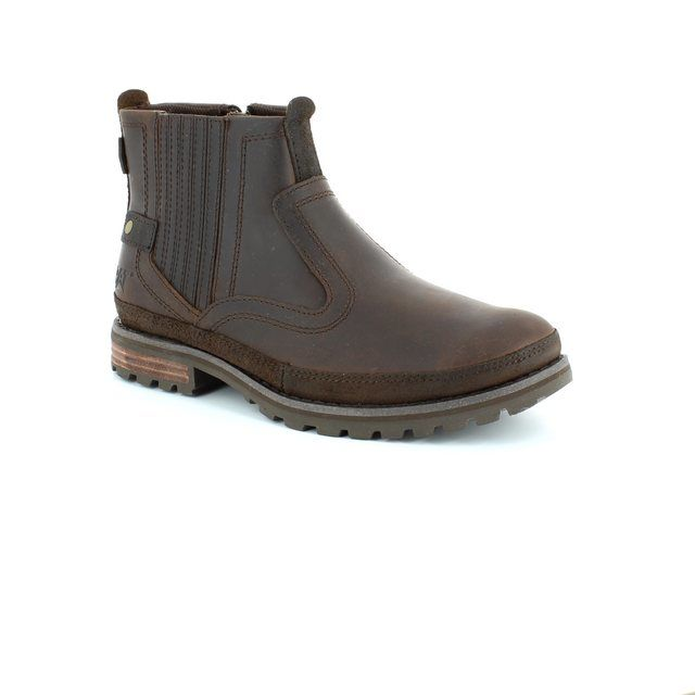 CAT Rivingston 7164 Dark brown boots