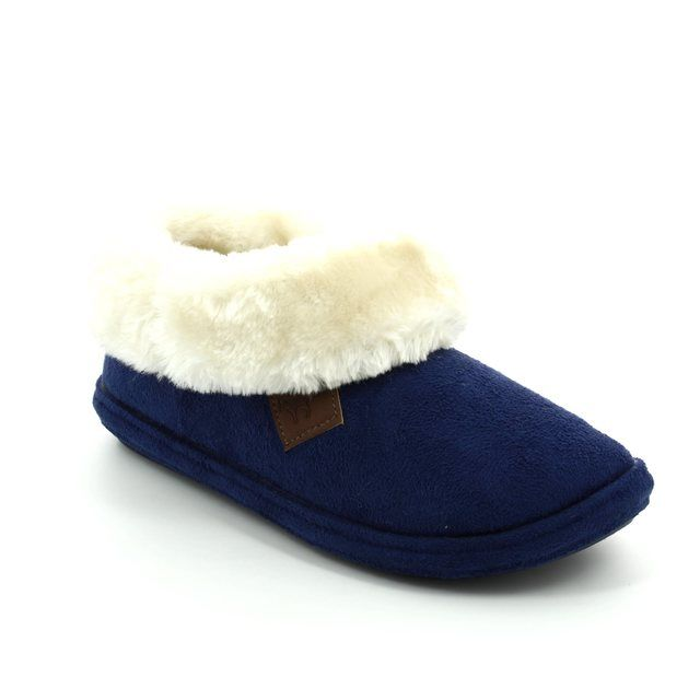 Begg Exclusive Slippers - Blue - 771070 CHILTERN