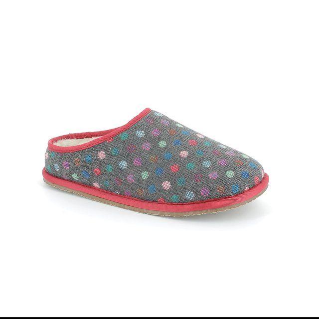 Clarks Adella Alpine D Fit Grey multi slippers