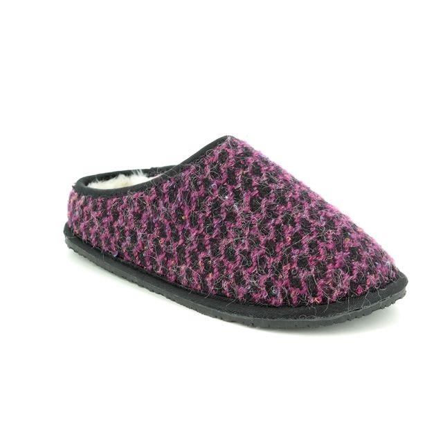 Clarks Adella Alpine D Fit Purple multi slippers