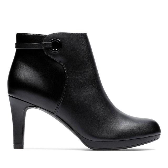 Clarks Ankle Boots - Black leather - 444174D ADRIEL MAE