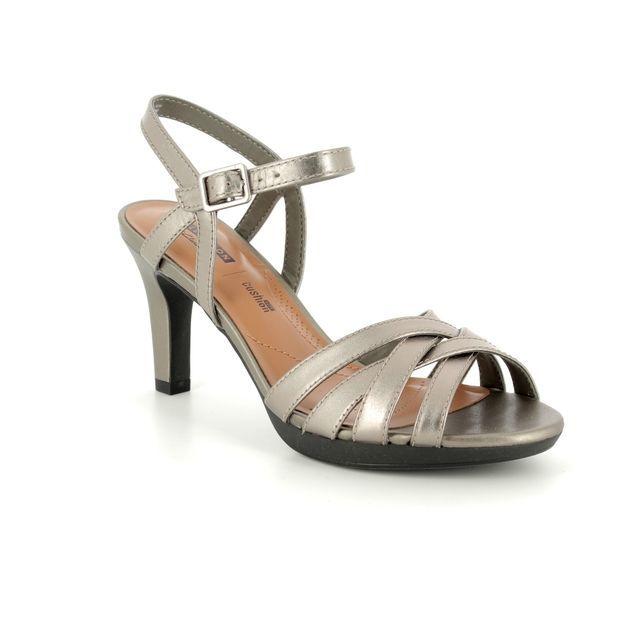 Clarks Heeled Sandals - Pewter - 3357/64D ADRIEL WAY