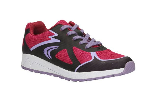 Clarks Adven Go Jnr F Fit Pink multi trainers