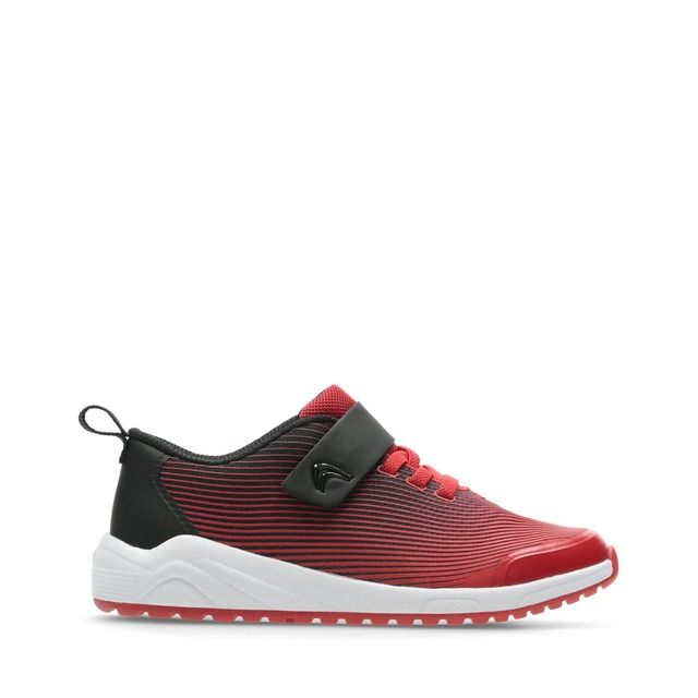 Clarks Aeon Pace K F Fit Red trainers